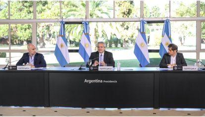 """""""Qué tiempos aquellos"""". ¿Se repetirá la foto entre Alberto Fernández, Larreta y Kicillof? (Archivo)"""
