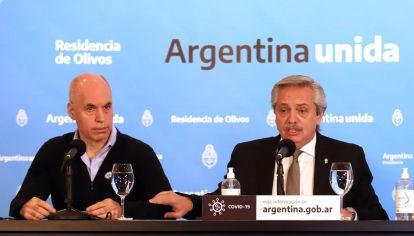 Horacio Rodríguez Larreta tiene mejor imagen que Alberto Fernández según una encuesta de Atlas.