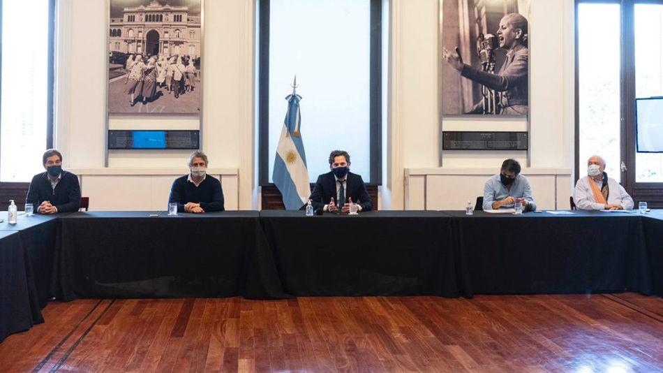 La reunión de Cafiero con funcionarios porteños y bonaerenses.