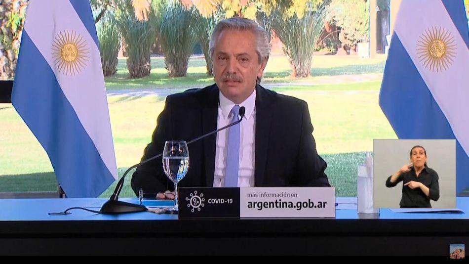 Mensaje de Alberto Fernández y gobernadores AMBA 20200626