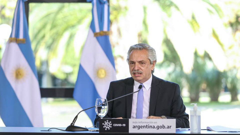 Alberto Fernández, durante el anuncio de la nueva cuarentena en AMBA.