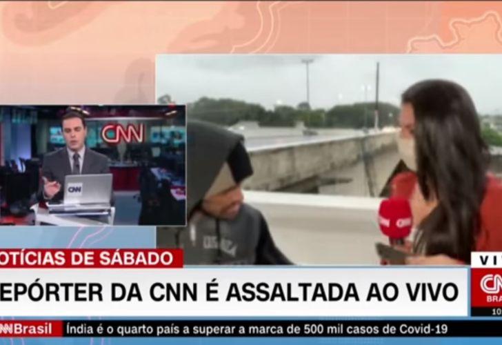 Bruna Macedo, periodista asaltada CNN Brasil