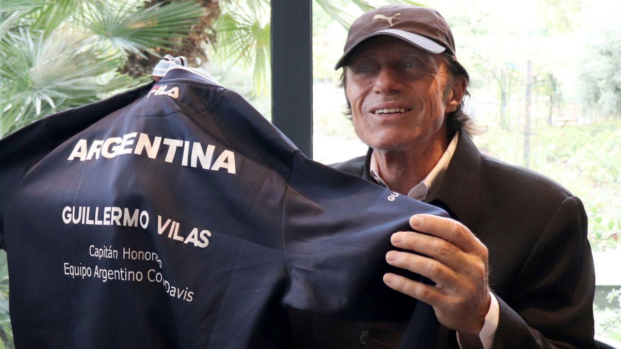 La Asociación Argentina de Tenis le hizo un histórico homenaje a Vilas