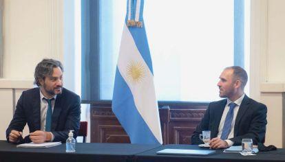 Santiago Cafiero y Martín  Guzmán arman el próximo presupuesto