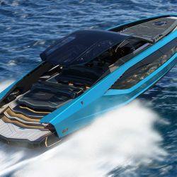 Fue desarrollado en conjunto con el fabricante de embarcaciones The Italian Sea Group y está inspirado en el Lamborghini Sián.