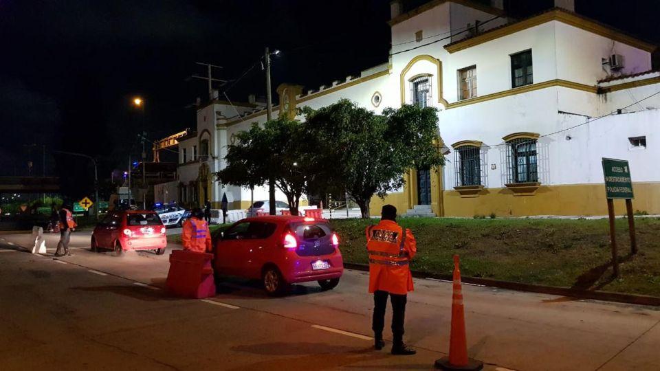 En el ingreso a Capital por la zona Sur, Puente de La Noria y Constitución.