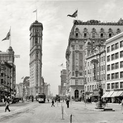 Pero en el 1900, Time Square se veía así.