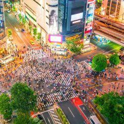 Así se ve hoy el propuloso cruce de Shibuya.