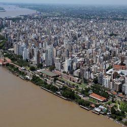 Hoy se la puede ver a Rosario desde el aire y presenta esta fisonomía.