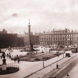 Así era George Square, Glasgow, en el siglo pasado.