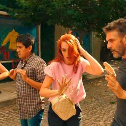 Julieta Díaz, Oski Guzmán, Julieta Zylberberg y Leo Sbaraglia en acción.