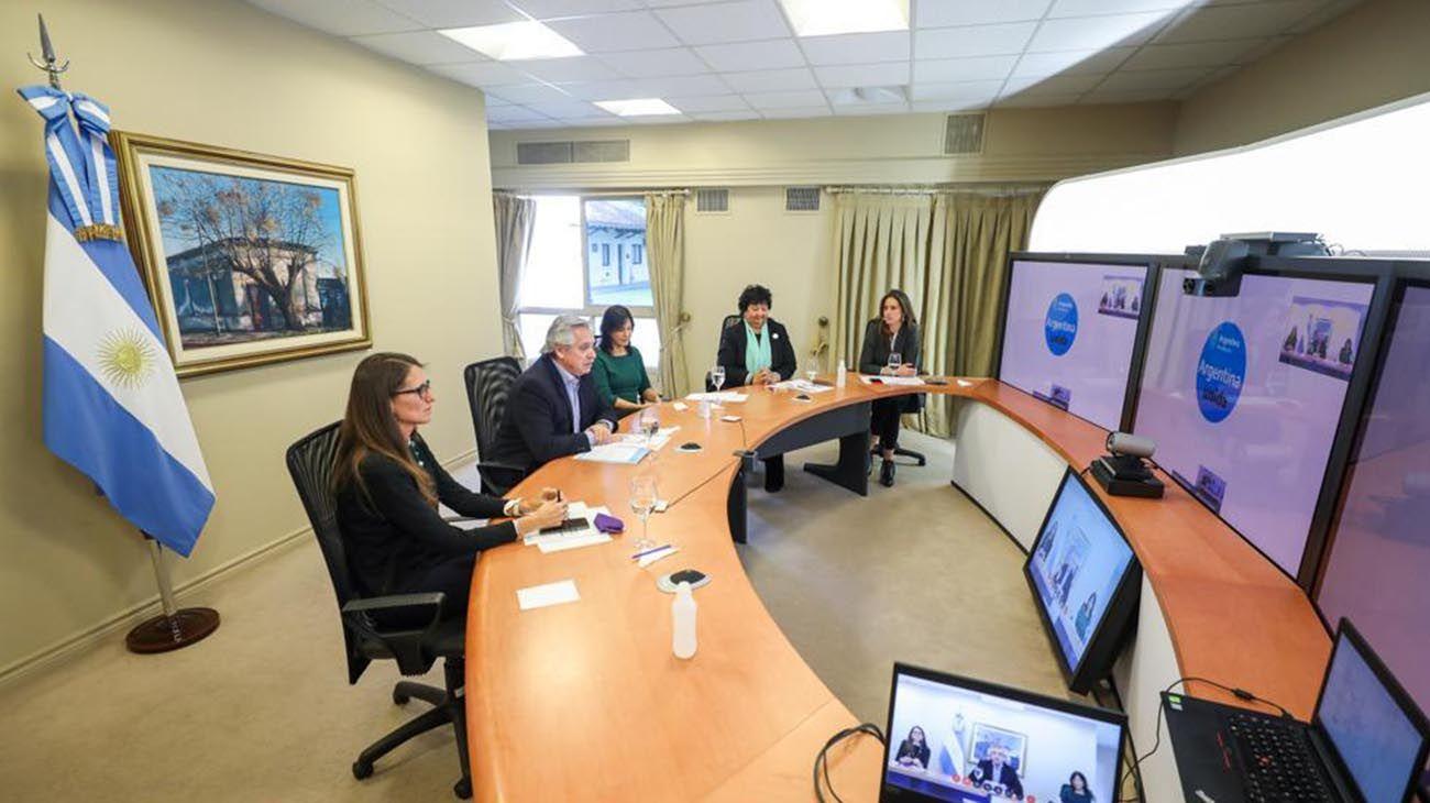 La ministra Elizabeth Gómez Alcorta presentó junto a Alberto Fernández el plan bianual para erradicar violencias