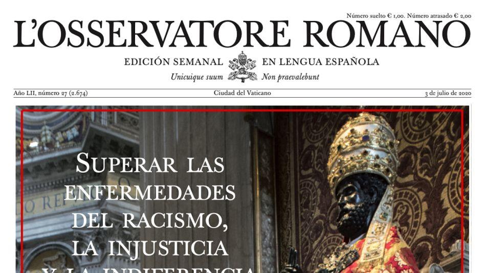 Edición semanal del Osservatore Romano.