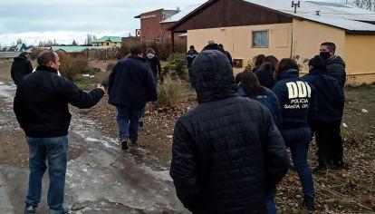 Operativo en El Calafate tras el asesinato de Gutiérrez (Télam)