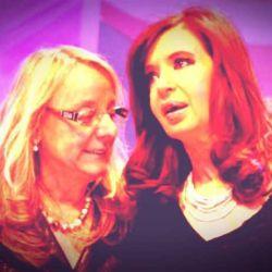 Alicia Kirchner junto a Cristina Fernández