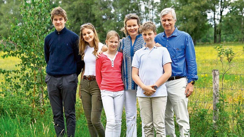 Los Reyes de Bélgica en familia