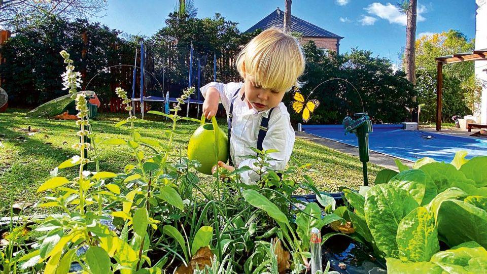 Mirko y Marley cultivan verduras en su huerta