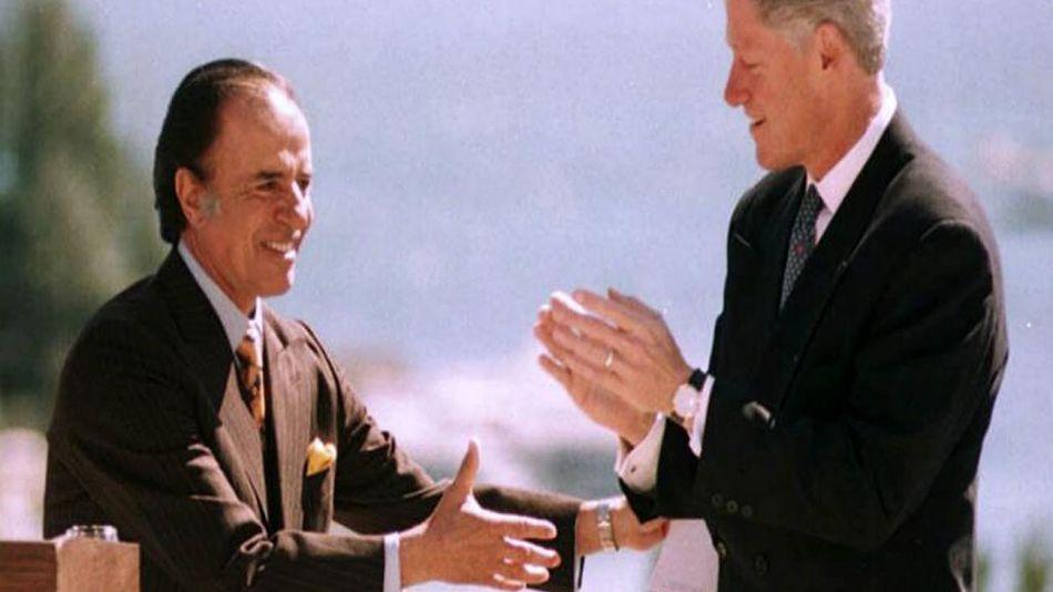 Carlos Menem y Bill Clinton 20200707