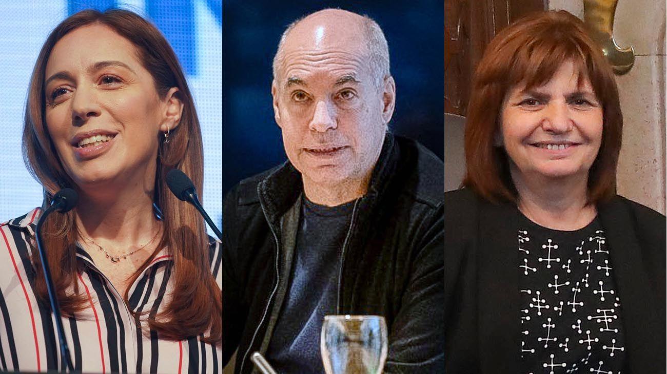María Eugenia Vidal ,Horacio Rodríguez Larreta y Patricia Bullrich