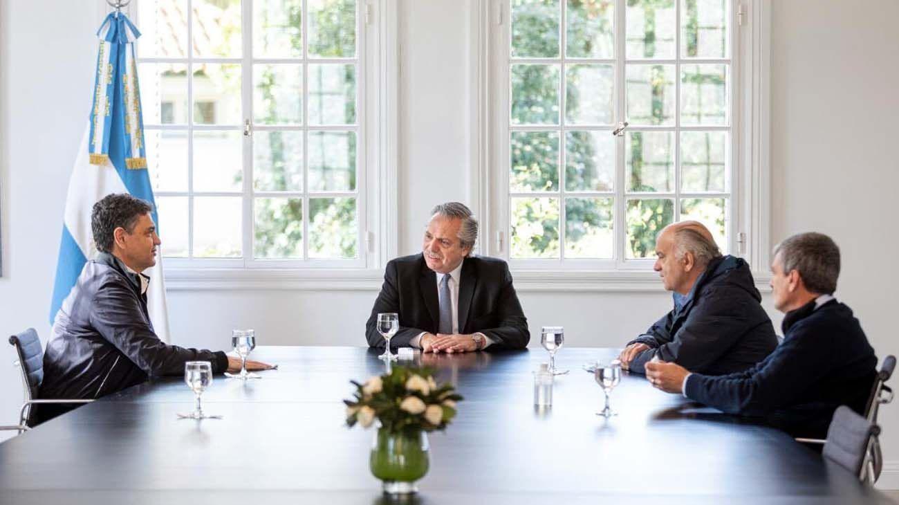 Fernández recibió a Zabaleta, Macri y Grindetti
