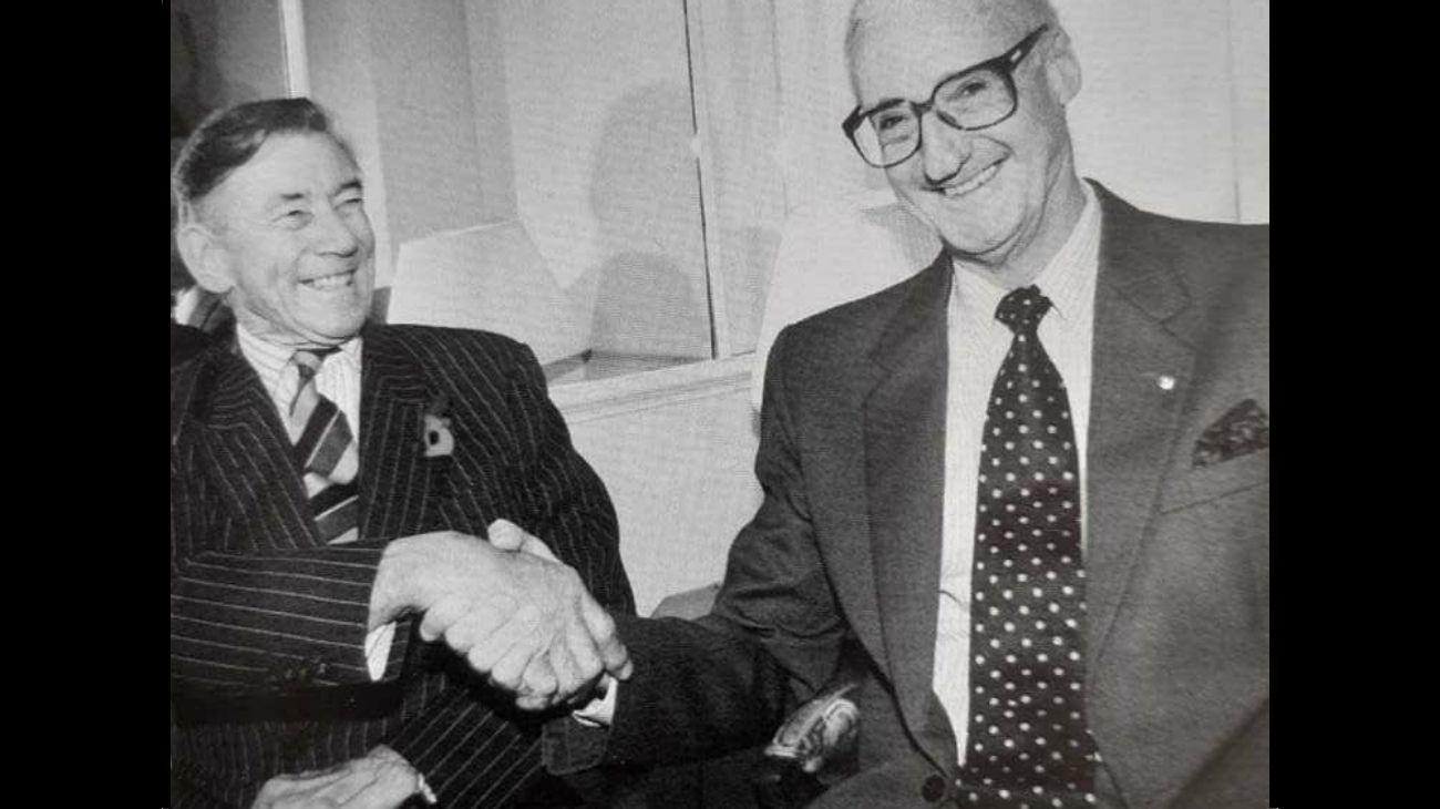 Jeremy Moore y Martín Balza