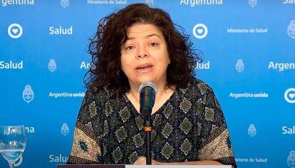 conferencia de prensa de Carla vizzoti