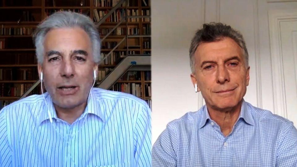 Macri entrevistado por Álvaro Vargas Llosa.