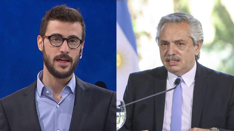 Diego Leuco y Alberto Fernández