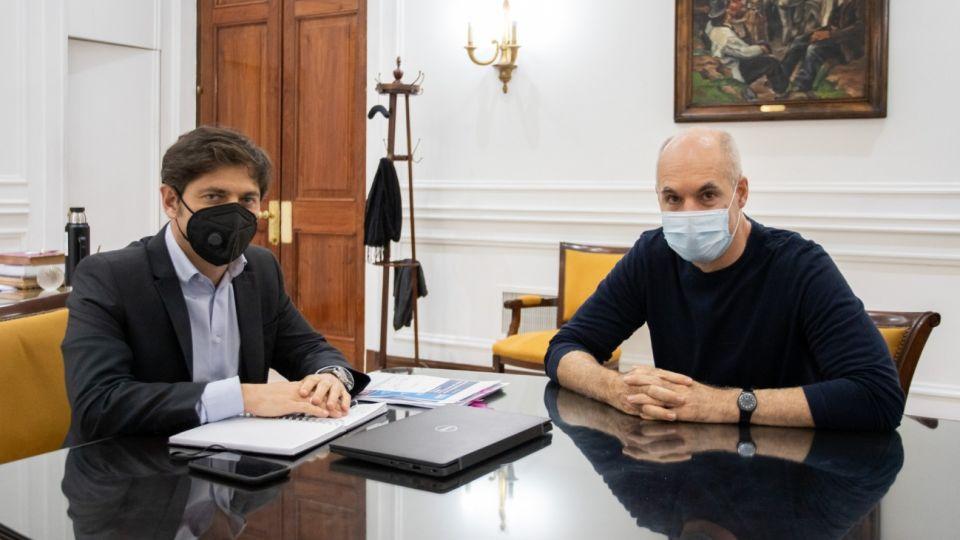 Axel Kicillof y Horacio Rodríguez Larreta.