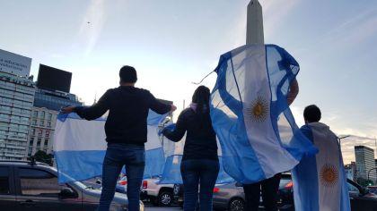 9 de Julio de 2020: Obelisco y Plaza de Mayo fueron escenarios de la protesta contra el gobierno de Alberto Fernández.