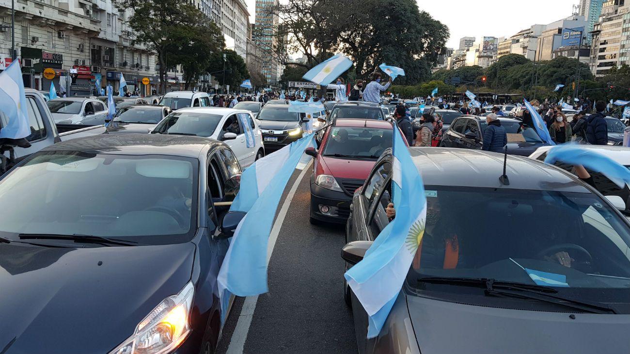 Archivo: el Obelisco y Plaza de Mayo ya fueron escenarios de protesta contra el gobierno de Alberto Fernández.