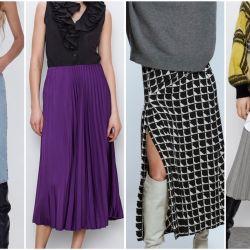 Faldas midi, las imprescindibles de esta temporada en Zara.
