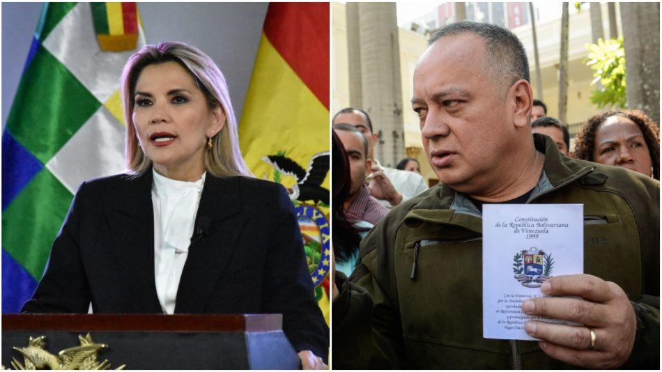 Jeanine Añez y Diosdado Cabello, casos positivos de Covid-19