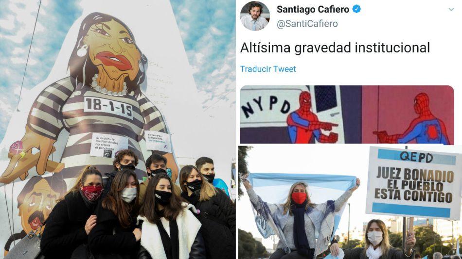 protestas cacerolazos redes sociales grieta 20200709