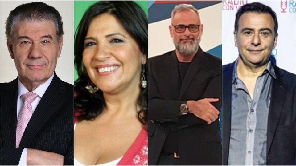 Víctor Hugo Morales, Elizabeth Vernaci, Jorge Rial yReynaldo Sietecase.