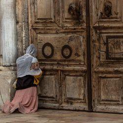 La Iglesia del Santo Sepulcro de Jerusalén durante la pandemia de coronavirus. | Foto:Ilia Yefimovich/DPA