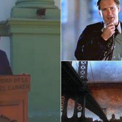 Torres emulando a Pullman en su lucha contra los aliens.   Foto:CEDOC