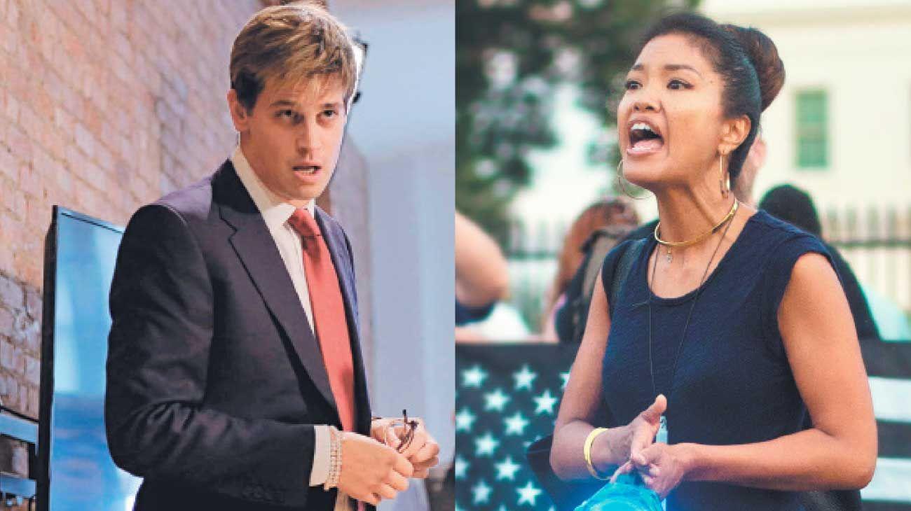Personajes. Milo Yiannopoulos y Michelle Malkin, representantes de la derecha americana.