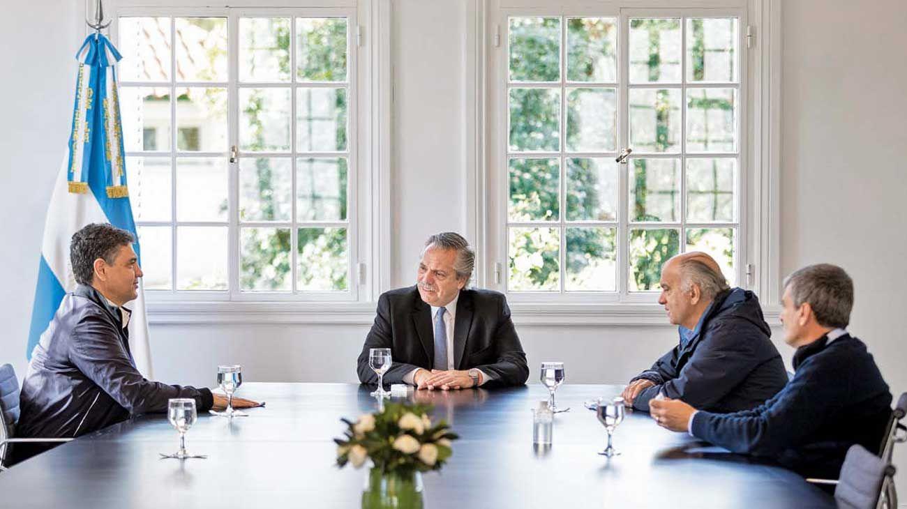 Tras la foto con Grindetti y Macri, Alberto retoma el diálogo con jefes de bloque opositores