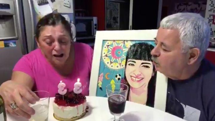El desgarrador video de Tití Fernández y su esposa, soplando las velitas por su hija fallecida