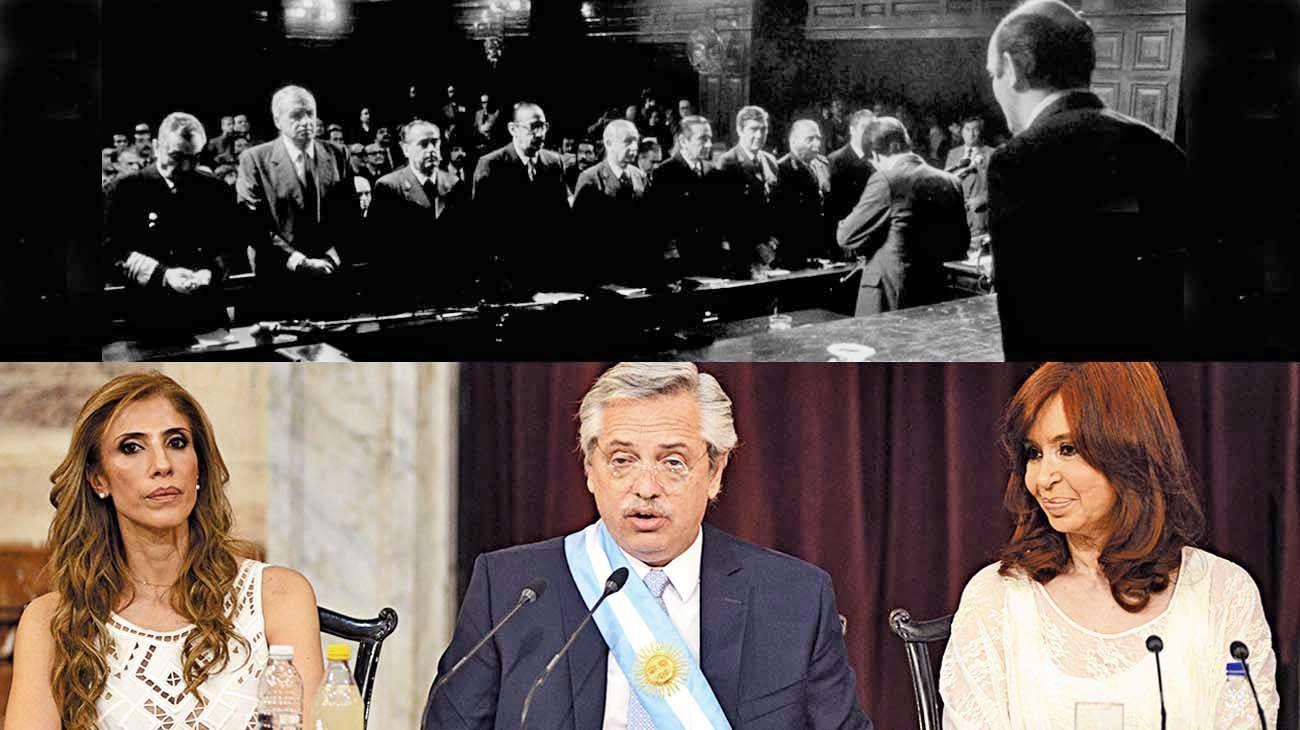 Historia. El Nunca Más significó un paso adelante para entender los ciclos represivos de nuestra historia. El Presidente comenzó su gestión hablando de Raúl Alfonsín y llamando a los consensos de toda la sociedad.
