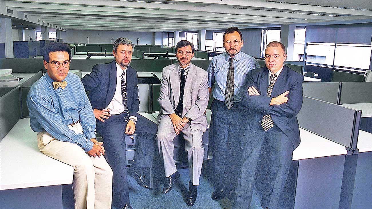 Redacción. En el primer Diario PERFIL: Pliner, Temes, Martolio, Lunghi y Jorge Fernández Díaz.