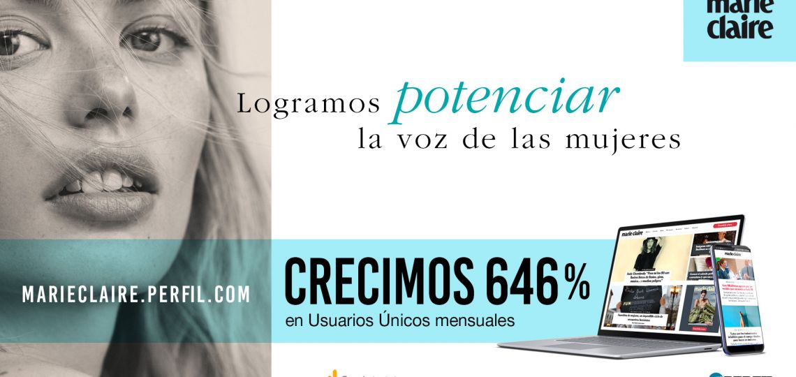 Marie Claire creció en un año 646% en usuarios únicos
