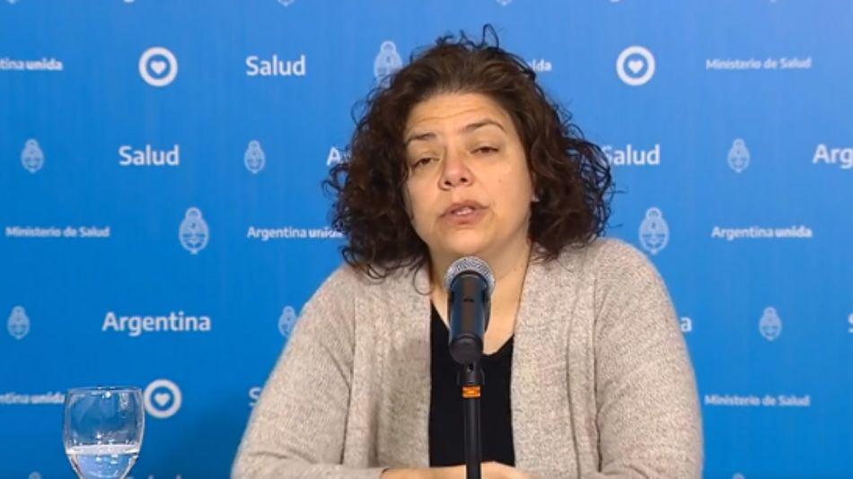 Carla Vizzotti, secretaria de Acceso a la Salud de la Nación, en el reporte matutino de coronavirus.