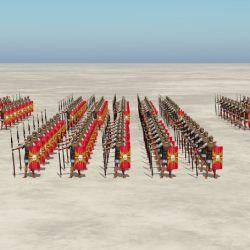 La formación en batalla de la legión romana era impecable y letal.