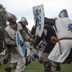 Los escoceses de las tierras altas eran corpulentos, forzudos y muy rápidos para el combate cuerpo a cuerpo.