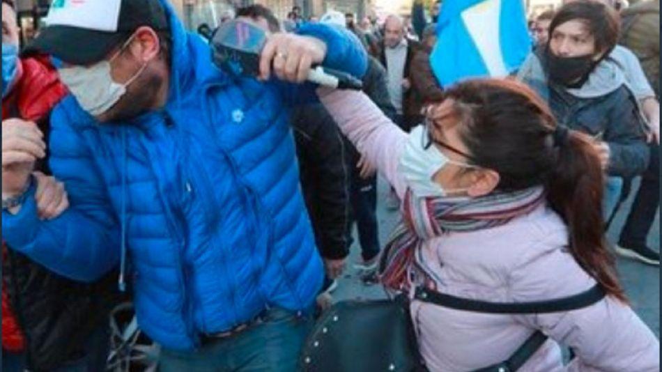 Patricia Matheu disturbios 9 de julio obelisco