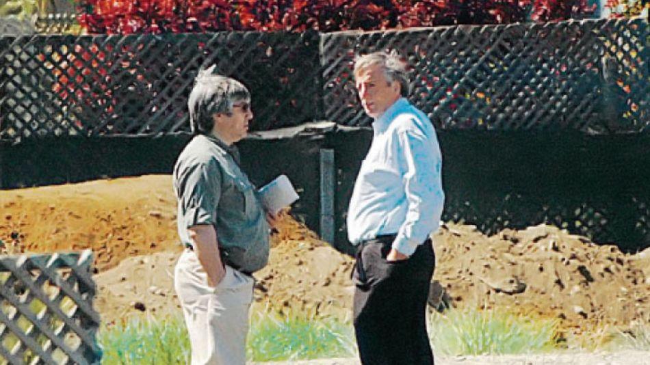 Lázaro Báez con Néstor Kirchner