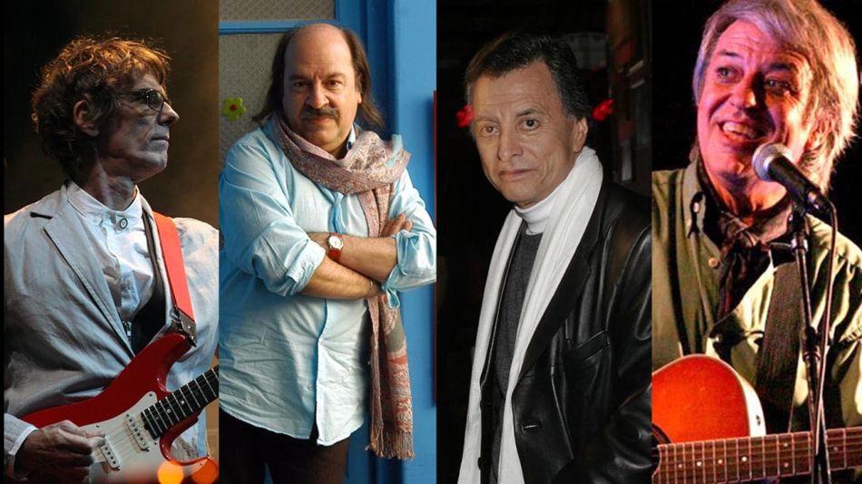 Spinetta, Donald, Palito Ortega y Litto Nebbia 20200714