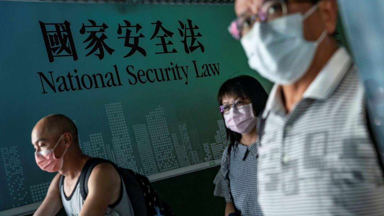 Un aviso del gobierno de Beijing sobre la nueva ley para Hong Kong.